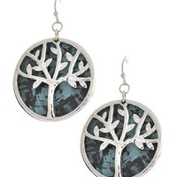 Tree of Life Hook Earrings