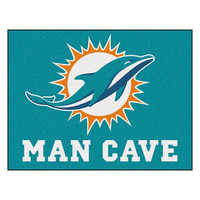 Miami Dolphins NFL Man Cave All-Star Floor Mat (34in x 45in)