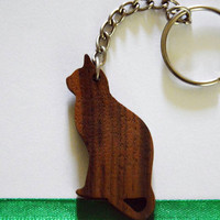 Cute WALNUT CAT keychain!