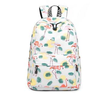 """Girls bookbag Waterproof Fashion Cactus Print School Backpack with 15.6"""" Laptop Pouch Cute Bookbag for Teen Girls Women Chic Backpack AT_52_3"""