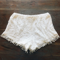 A Crochet Short in Ivory