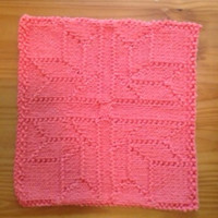 Hand Knit Fabulous Four Corner Flower Cotton Picture Dish Cloth or Wash Cloth