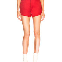Maison Margiela High Waisted Riding Shorts in Hunting Red | FWRD