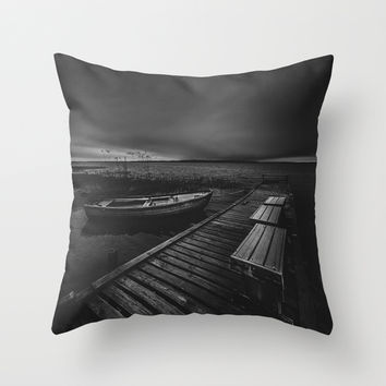 On the wrong side of the lake 5 Throw Pillow by HappyMelvin