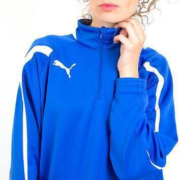 puma windbreaker blue tracksuit women jacket bomber jacket 34 xs s  number 1