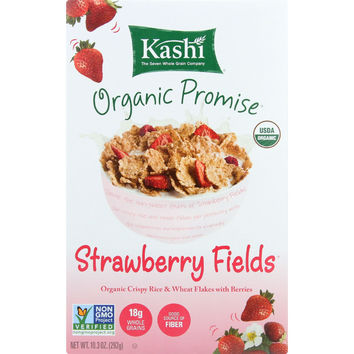 Kashi Cereal - Organic - Rice and Wheat - Organic Promise - Strawberry Fields - 10.3 oz - case of 12