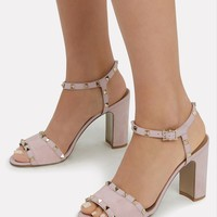 Water Rose Rockstud Suede Sandals