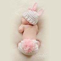 2017 Hat+Trousers Set Handmade Infant Baby Costume Knitted Beanies Hat Newborn Photography Prop Crochet Hats Caps Accessories