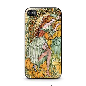 cinderella art disney iphone 4 4s case cover  number 1