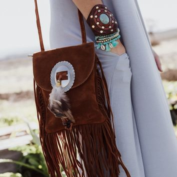 Gone West Fringe Feather Bag
