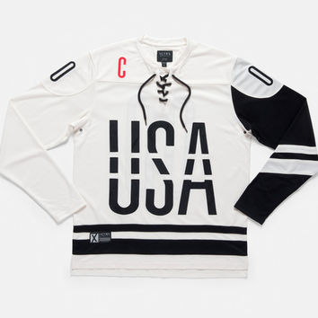 10Deep | Tops | 2080 Tech Mesh Hockey Jersey - Off White