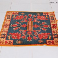 Moroccan decor rug, 3.5ft x 3.2ft