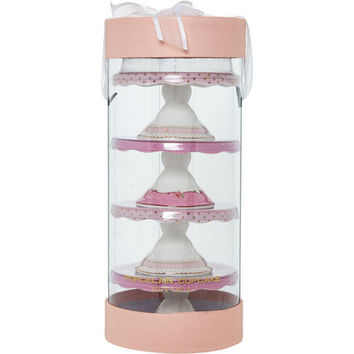 Pink Patterned Cupcake Stands - Tableware - Cookware & Dining - Home - TK Maxx