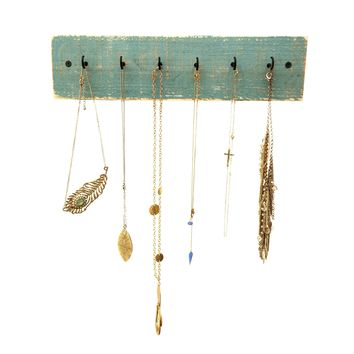 Reclaimed Wood Necklace Holder, Beach House