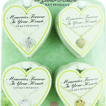 locket memories forever in your heart - lead safe Case of 72