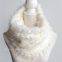 faux fur scarf in cream by grace and lace has winter wonderland written all over it! Not literally of course but it sure does make for an adorable snowy season!