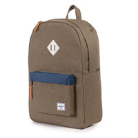 Herschel Supply Co.: Heritage Backpack - Beech Crosshatch / Navy / Natural Rubber