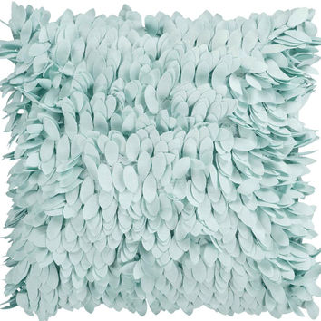 Surya Claire Ruffle and Frill Pillow,  Blue