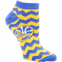 Golden State Warriors Women's Chevron Stripes Ankle Socks