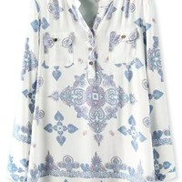 Tribal Long Sleeves Cotton Shirt - OASAP.com
