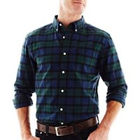 St. John's Bay® Tartan Plaid Oxford