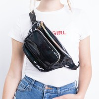 Black Patent Fanny Pack