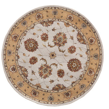 Dynamic Rugs Jewel Ivory Classic Round Area Rug