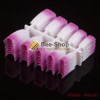 100 PCS Beauty Acrylic Nail Tips White Mix Pink Glitter French Nail Tips Acrylic False Nails Art Foils NEW
