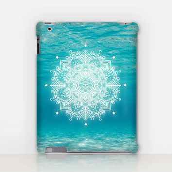 Beach Mandala iPad Case For - iPad 2, iPad 3, iPad 4 and iPad Mini, Fine Art Hard Case