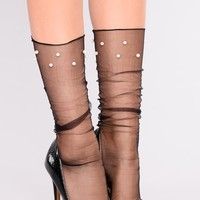 Karah Mesh Socks - Black