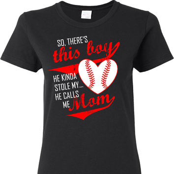 This Boy He Kinda Stole My Heart Ladies Cut T Shirt