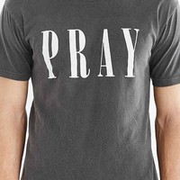 FUN Artists Pray Tee- Washed Black