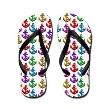 Colorful Anchors Flip Flops> Colorful Anchors> Accessorize Me