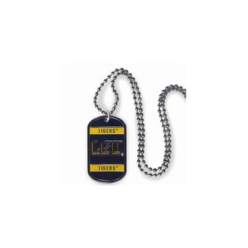 Collegiate Louisiana State 20 inch Dogtag Chain Necklace