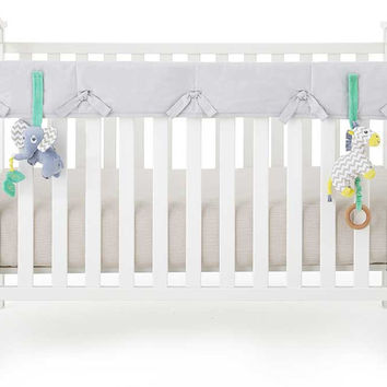 Grey Organic Crib Rail Cover