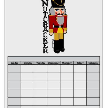 The Nutcracker with Text Blank Calendar Dry Erase Board by TooLoud