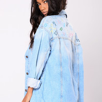 Whatever 4 Ever Denim Jacket - Light