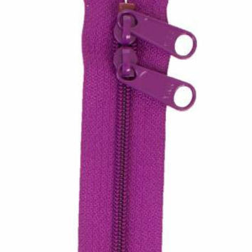 Handbag Zipper 30 inches Tahiti Purple Mauve Double Slide