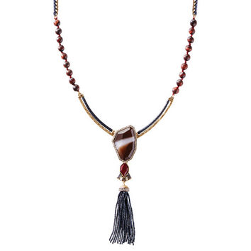 Rebel Long Tassel Pendant Necklace