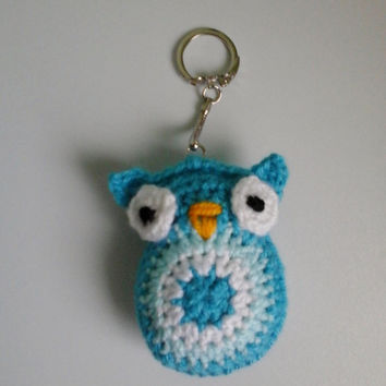 Crochet Keychain, Crochet Owl Keychain,  Small Gift for friend, Crochet Amigurumi Owl