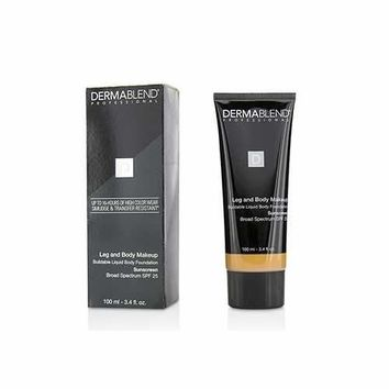 Leg and Body Make Up Buildable Liquid Body Foundation Sunscreen Broad Spectrum SPF 25 - #Medium Bronze 45N 100ml/3.4oz