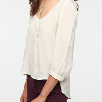 Urban Outfitters - Sparkle & Fade Lace Inset Open Back Blouse