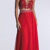 Dave and Johnny Two-Piece Gown