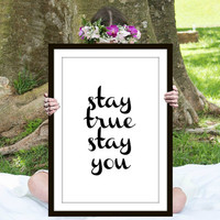 Digital Print, Wall Art, Instant Download, Downloadable Art, Printable Poster, Teen Gift Ideas, Shabby Chic, Inspirational Quote, Prints