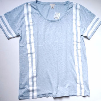 J.Crew Light Blue Striped Tee