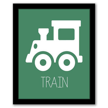 Train Wall Art, Transportation, Nursery Wall Art, Green Art, Vehicles, Kids Room, Nursery Decor, Printable Wall Art, INSTANT DOWNLOAD