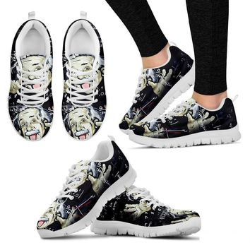 Albert Einstein Themed Running Shoe (Men And Women)- Free Shipping