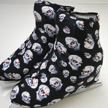 Skull Skate Boot Covers / Figure Skating / Ice Skating /  Roller Skating
