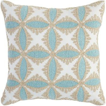 Tile Embroidered Maui & Birch Pillow