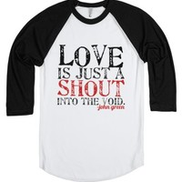 Love-Unisex White/Black T-Shirt